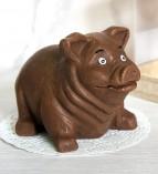 """Фигура шоколадная """"Свинка №1""""  11 см 150 гр."""