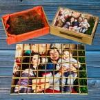 Шокобокс с фотопазлом из 63 шоколадок