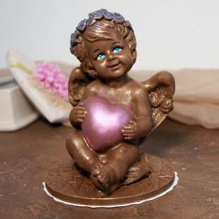 """Фигура шоколадная """"Ангел с сердцем"""" 13 см, 308 гр."""