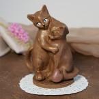 """Фигура шоколадная """"Влюбленные кошечки"""" 11 см, 120 гр."""