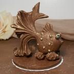 """Фигура шоколадная """"Золотая Рыбка"""" 10 см, 150 гр."""