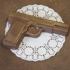 """Шоколадная фигура """"Пистолет малый №2"""" 70 гр."""
