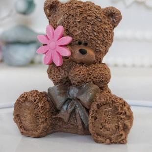 """Фигура шоколадная """"Тедди с цветком"""""""