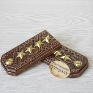 """Фигура шоколадная """"Погоны 12 см"""""""