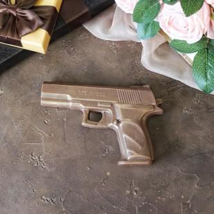 """Фигура шоколадная """"Пистолет"""" 20 см 160 гр."""