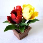 "Букет из сахарных цветов ""Тюльпаны"" 22 см, 540 гр."