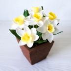 """Букет из сахарных цветов """"Нарциссы"""" 14 см, 320 гр."""