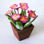 """Букет из сахарных цветов """"Примула"""" 15 см, 280 гр."""