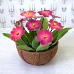 """Букет из сахарных цветов """"Примула"""" 15 см, 370 гр."""