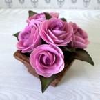 """Букет из сахарных цветов """"Розы"""" 14 см, 625 гр."""