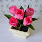 "Букет из сахарных цветов ""Тюльпаны"" 17 см, 535 гр."