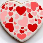 Пряничные сердца-валентинки